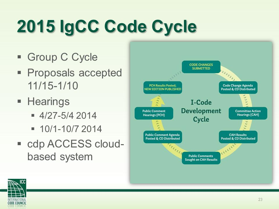 2015 IgCC Code Cycle Group C Cycle Proposals accepted 11/15-1/10