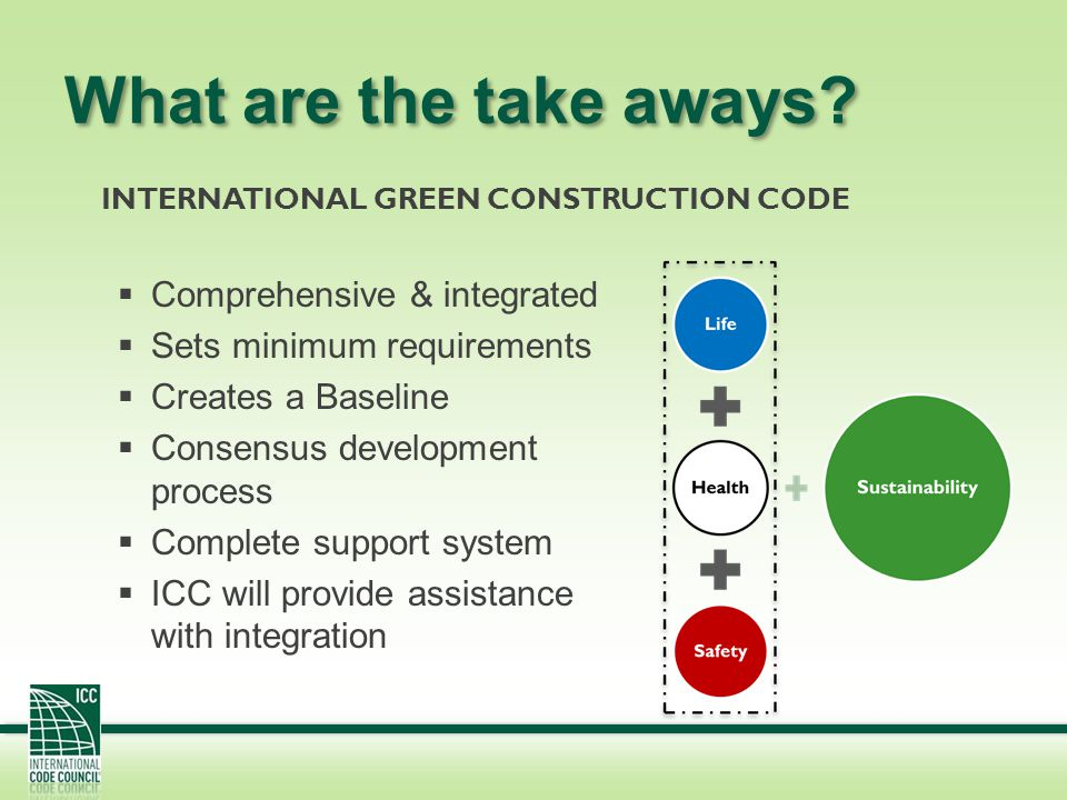 What are the take aways Comprehensive & integrated