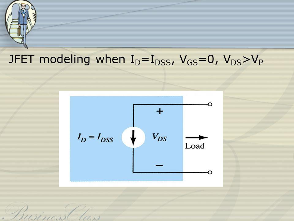 JFET modeling when ID=IDSS, VGS=0, VDS>VP