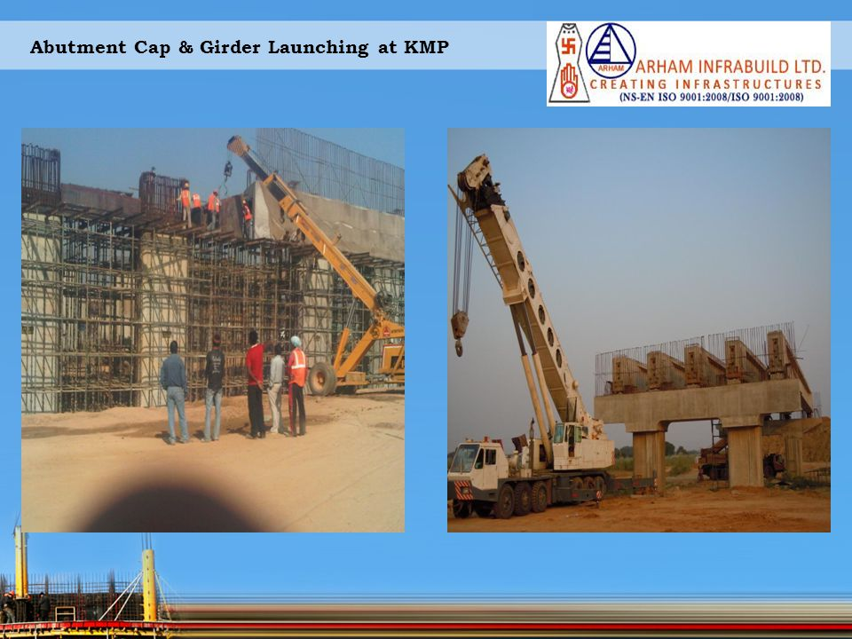 Abutment Cap & Girder Launching at KMP