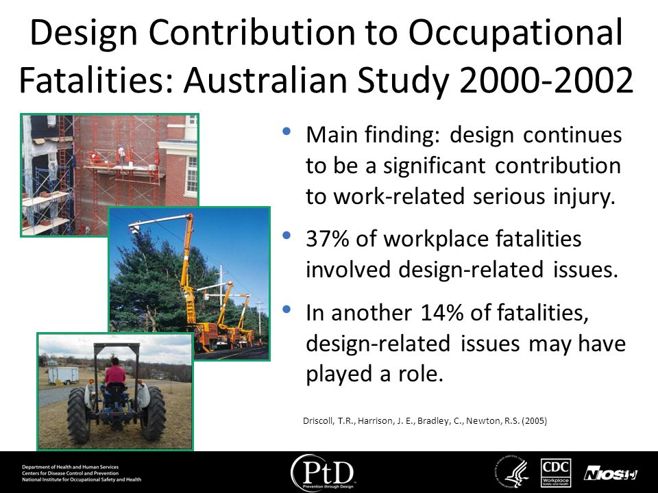 Design Contribution to Occupational Fatalities: Australian Study 2000-2002