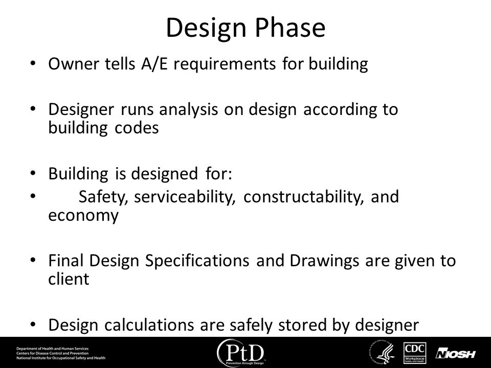 Design Phase Owner tells A/E requirements for building