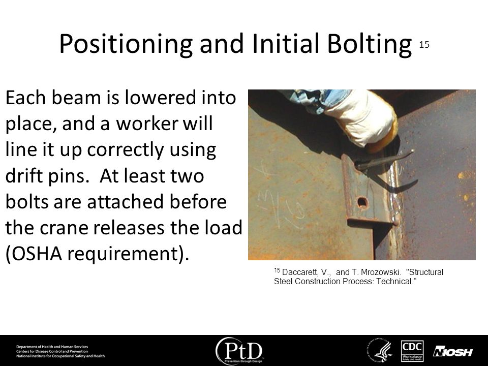 Positioning and Initial Bolting 15