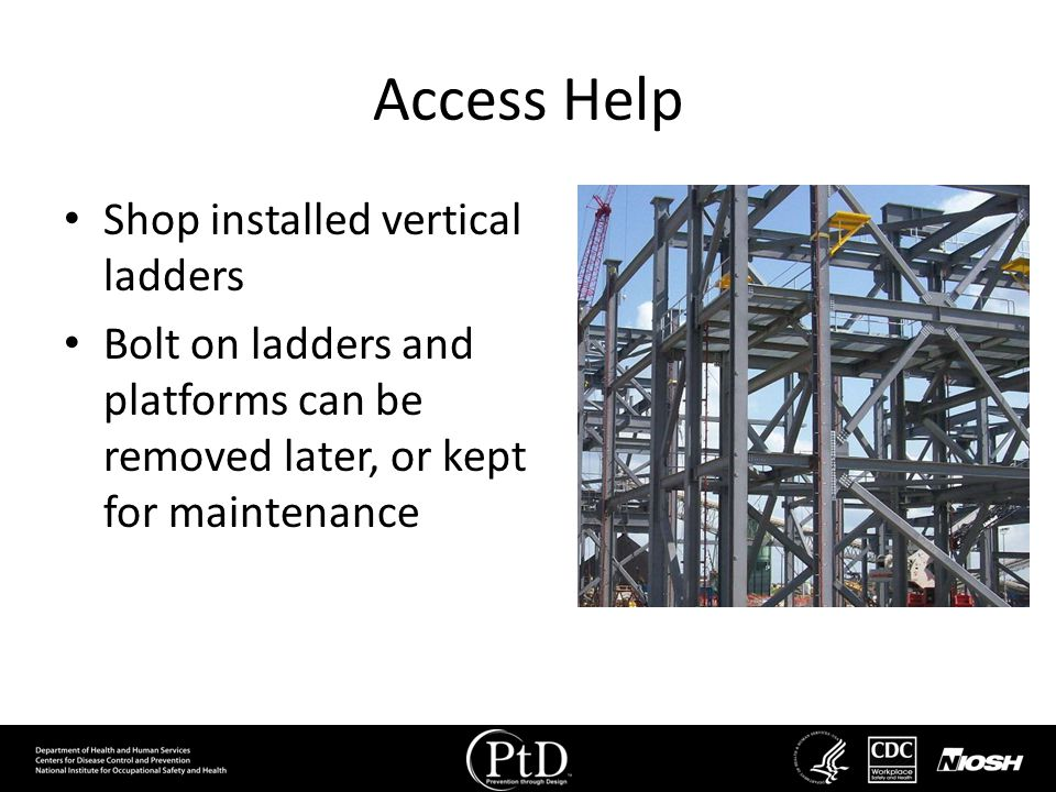 Access Help Shop installed vertical ladders
