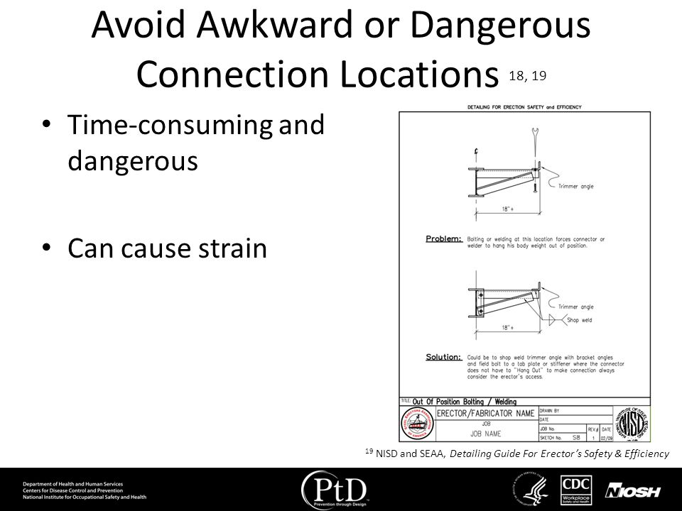 Avoid Awkward or Dangerous Connection Locations 18, 19