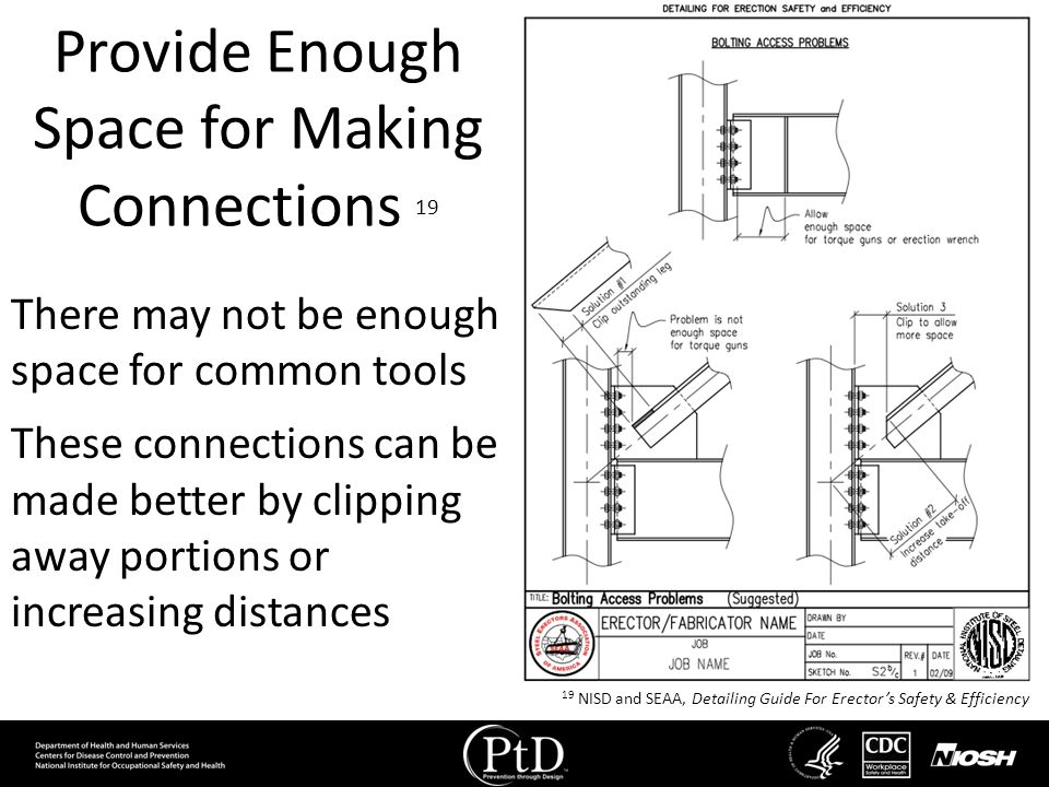 Provide Enough Space for Making Connections 19