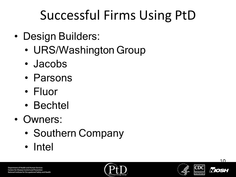 Successful Firms Using PtD