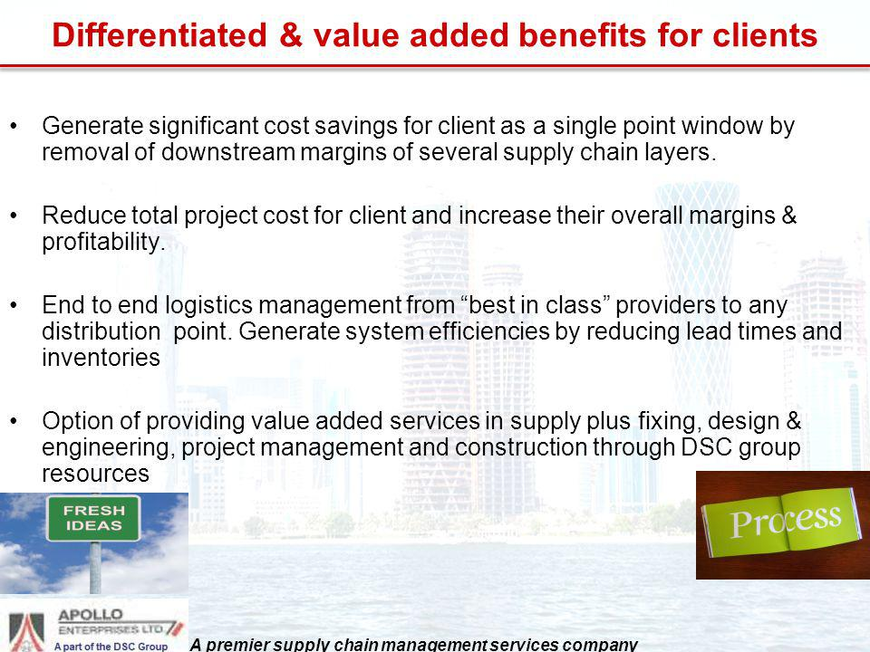 Differentiated & value added benefits for clients