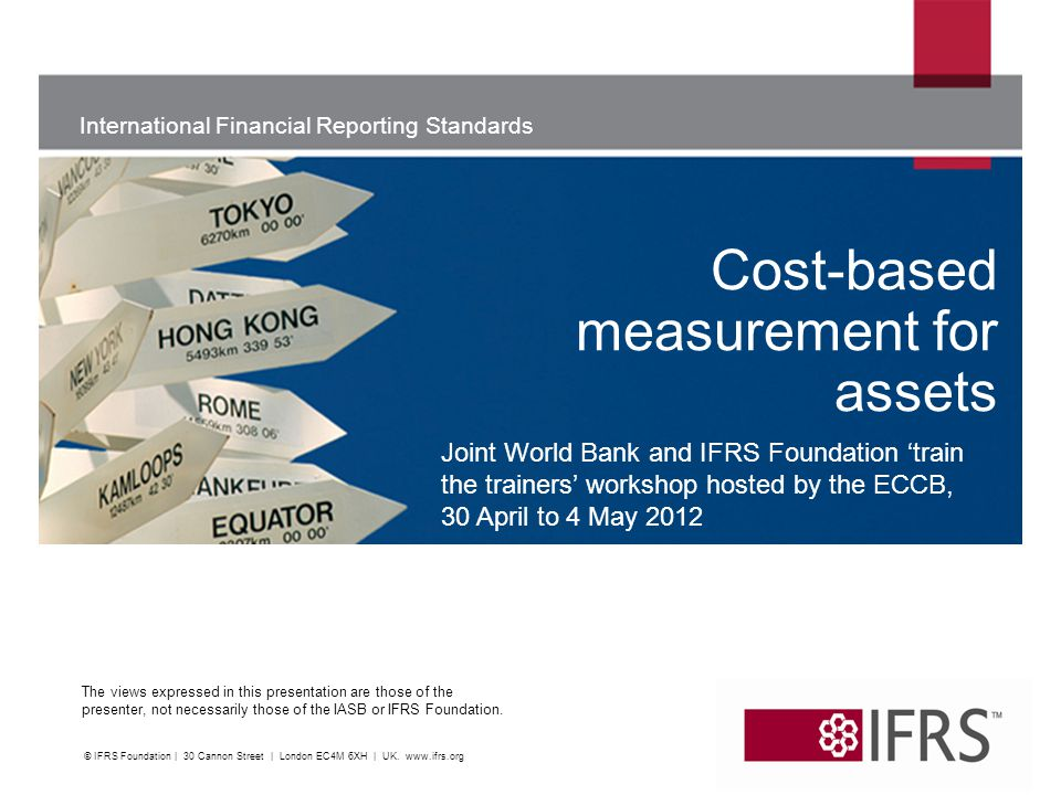Cost-based measurement for assets