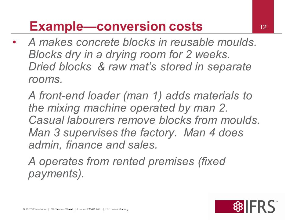 Example—conversion costs