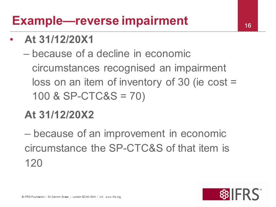 Example—reverse impairment