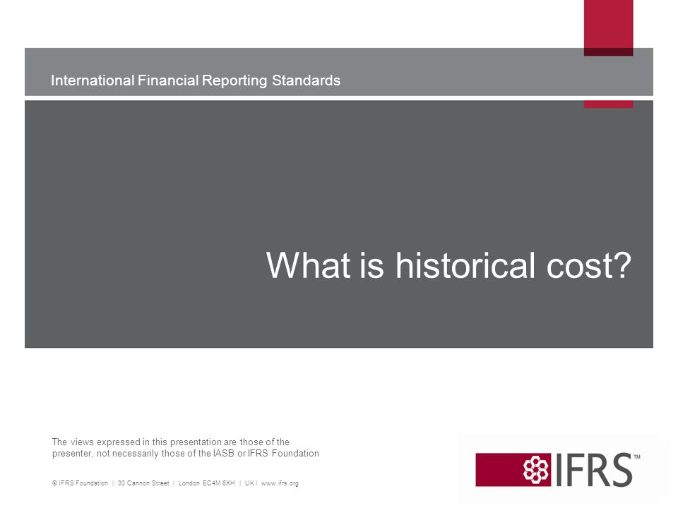What is historical cost