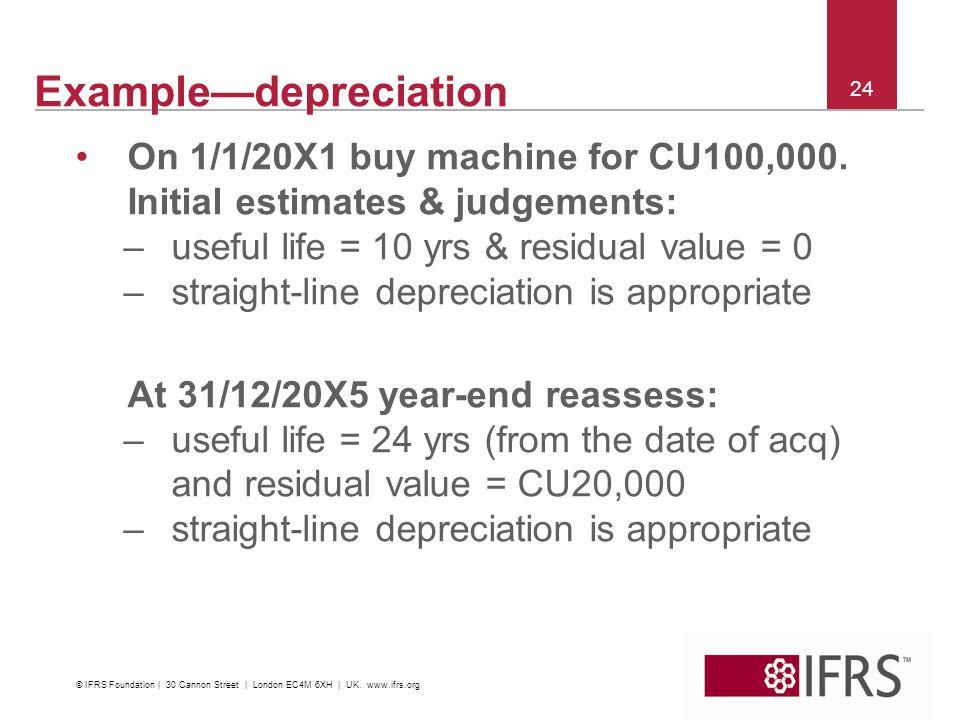 Example—depreciation