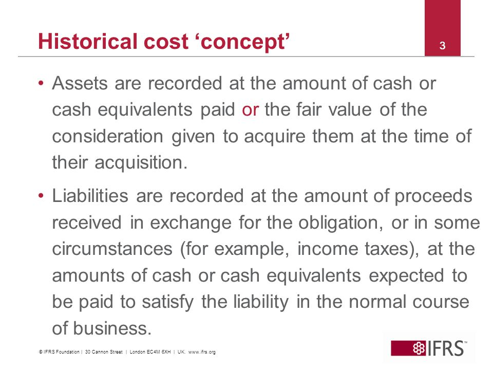 Historical cost 'concept'
