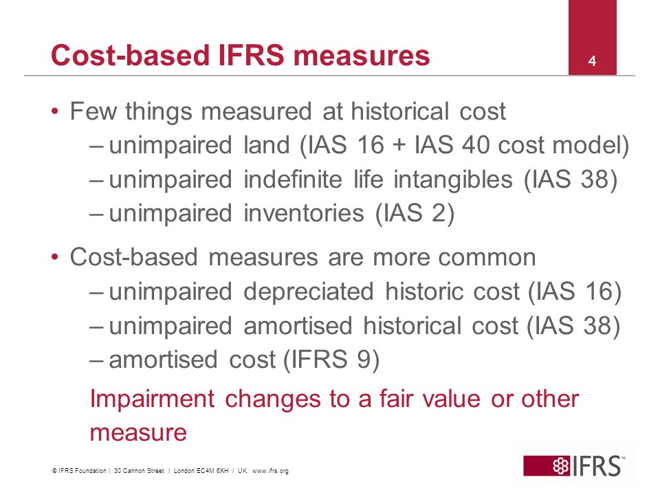 Cost-based IFRS measures