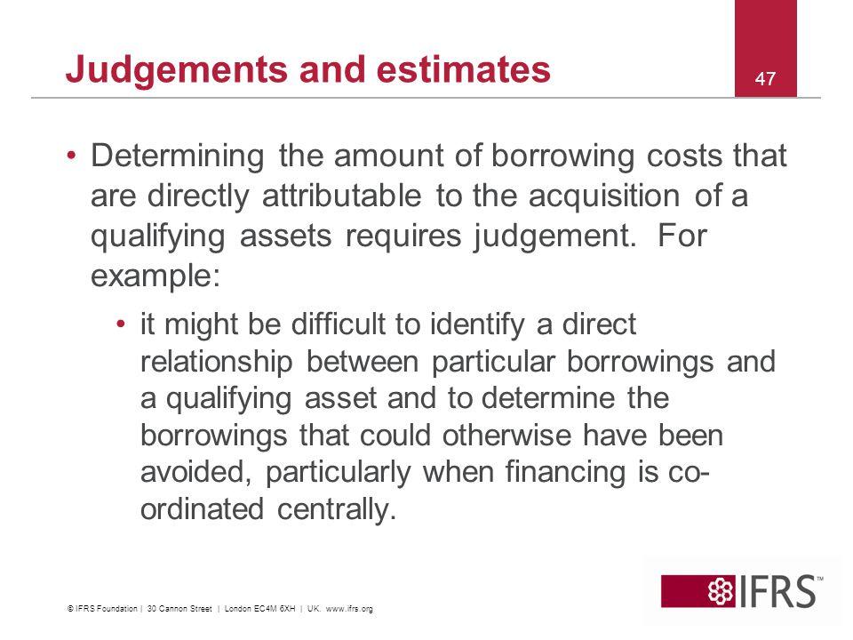 Judgements and estimates