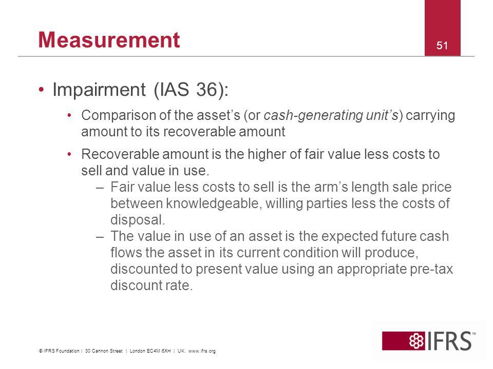 Measurement Impairment (IAS 36):