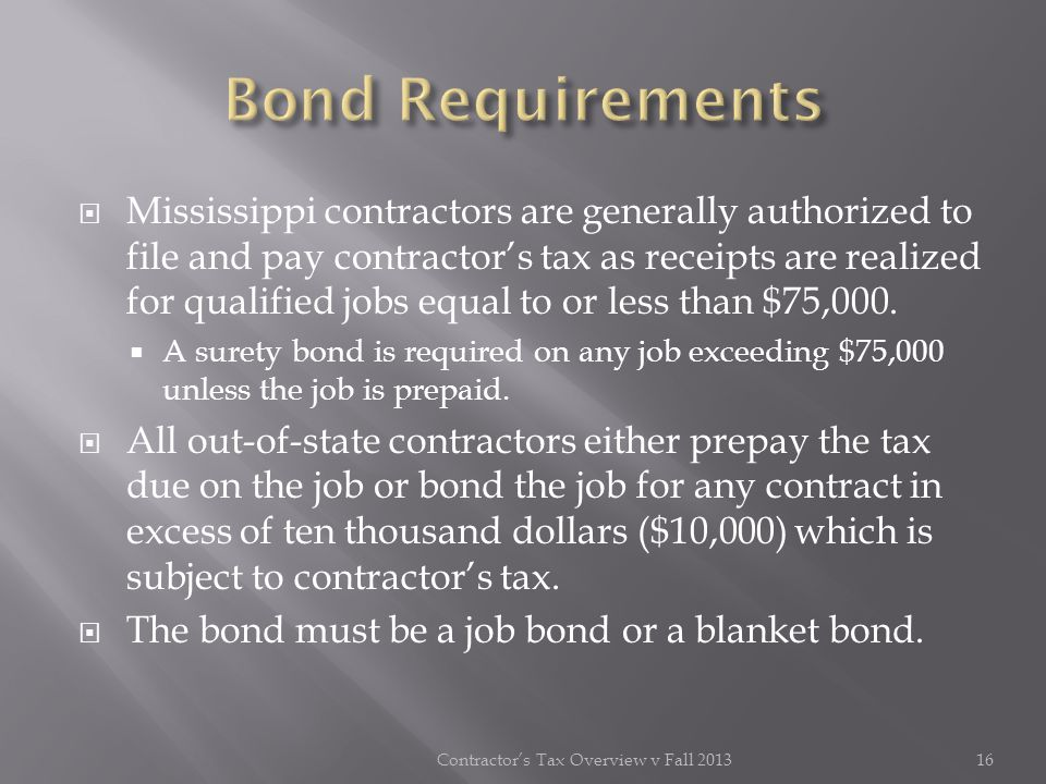 Contractor's Tax Overview v Fall 2013