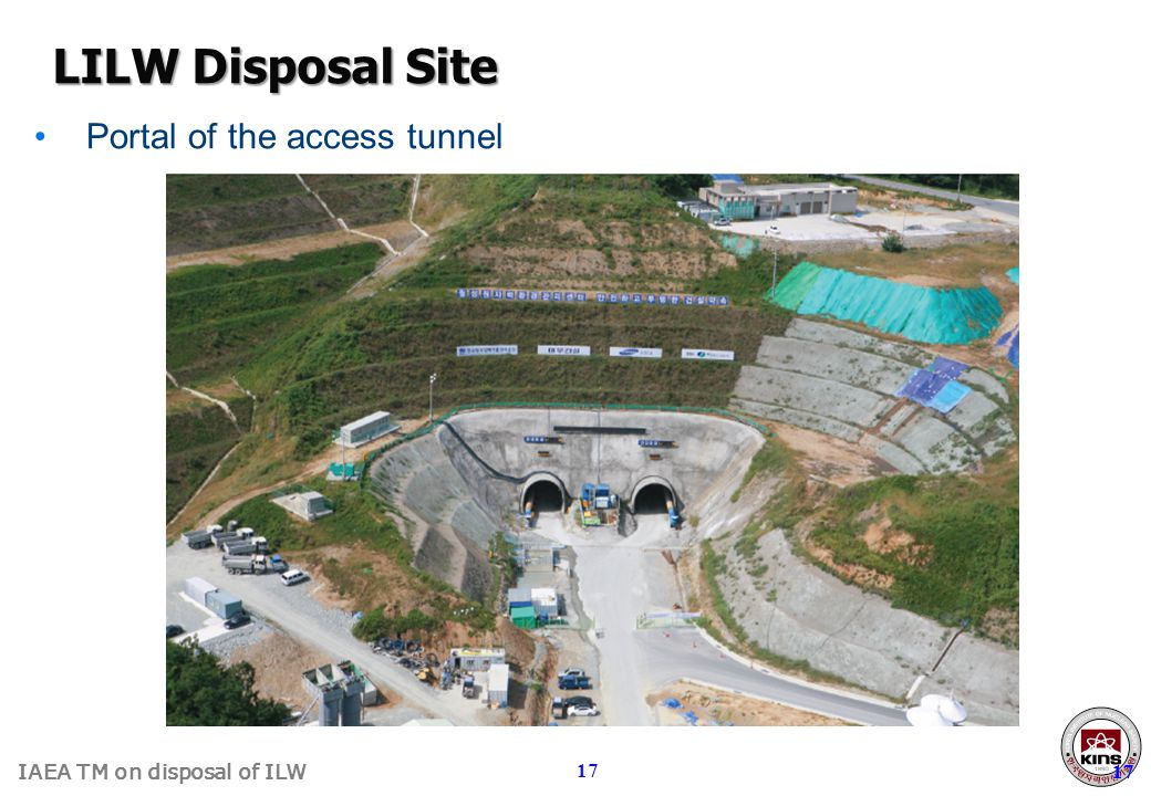 LILW Disposal Site Portal of the access tunnel 17 17