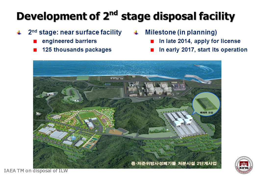 Development of 2nd stage disposal facility