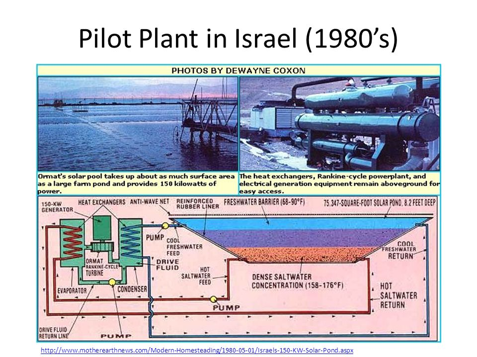 Pilot Plant in Israel (1980's)