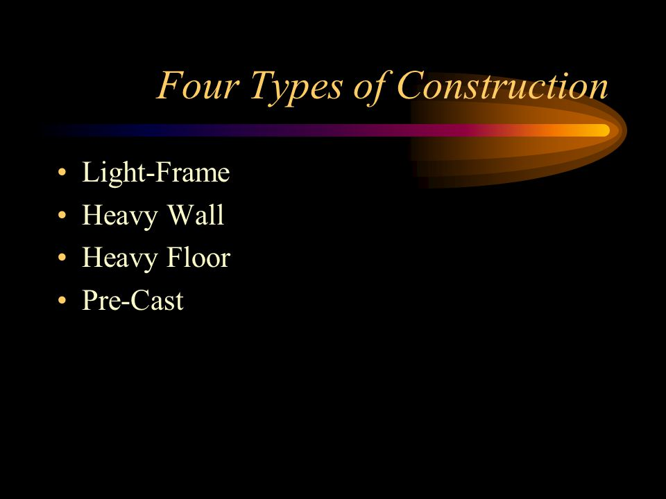 Four Types of Construction