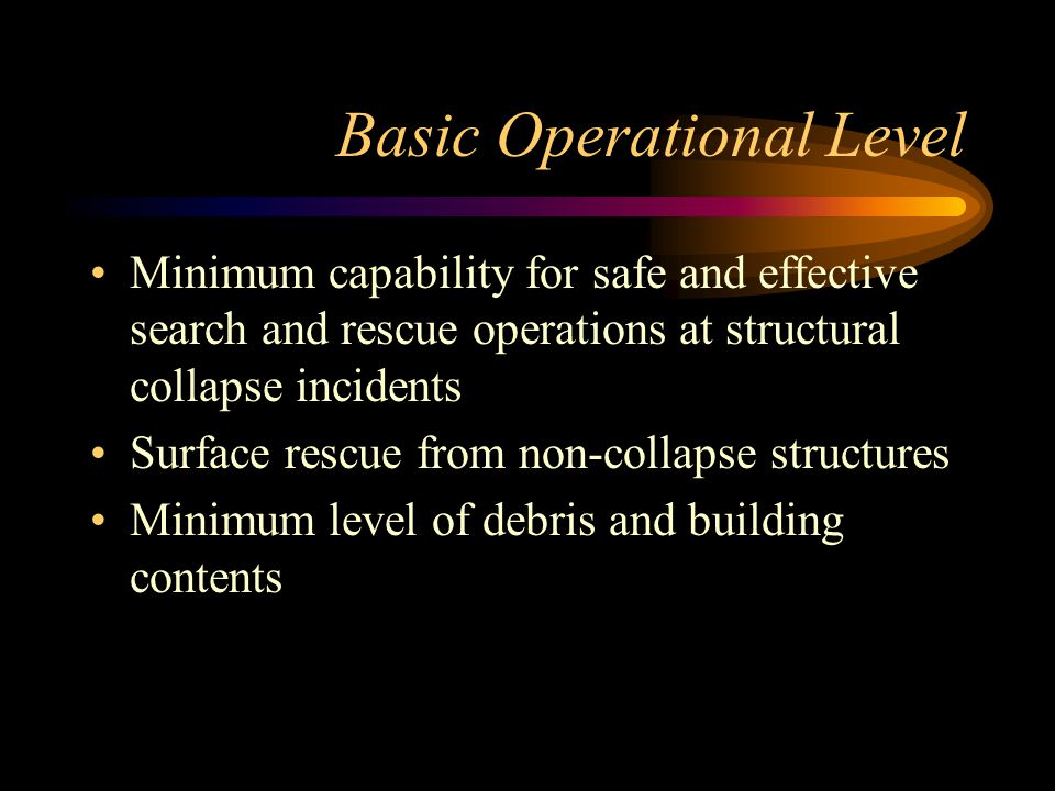 Basic Operational Level