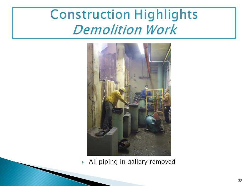 Construction Highlights Demolition Work
