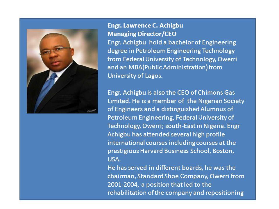 Engr. Lawrence C. Achigbu