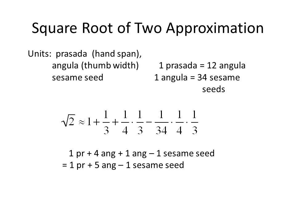 Square Root of Two Approximation