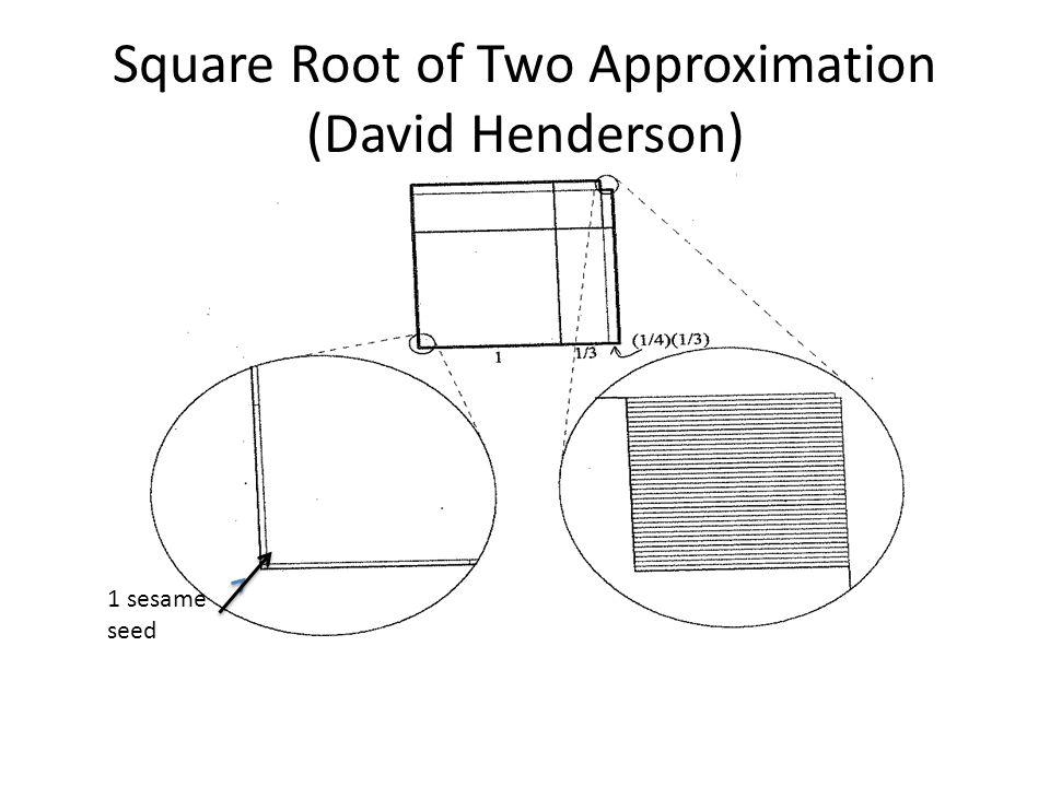 Square Root of Two Approximation (David Henderson)