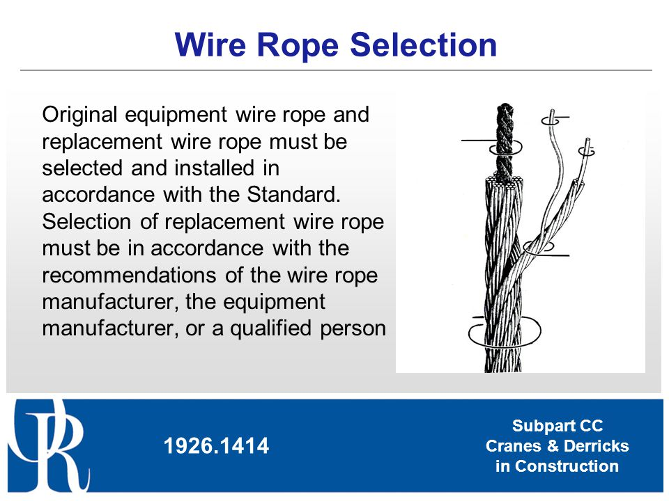 Wire Rope Selection