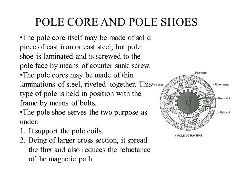 POLE CORE AND POLE SHOES