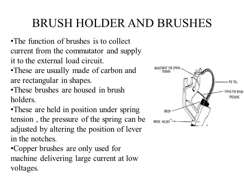BRUSH HOLDER AND BRUSHES