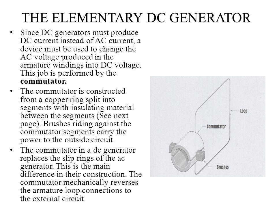 THE ELEMENTARY DC GENERATOR