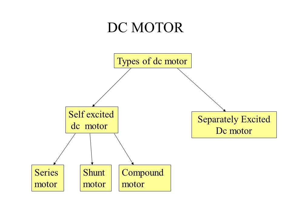 DC MOTOR Separately Excited Dc motor Self excited dc motor