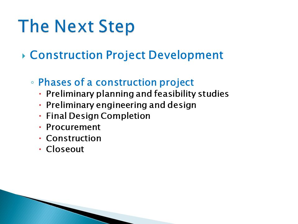 The Next Step Construction Project Development