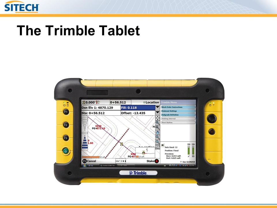 The Trimble Tablet