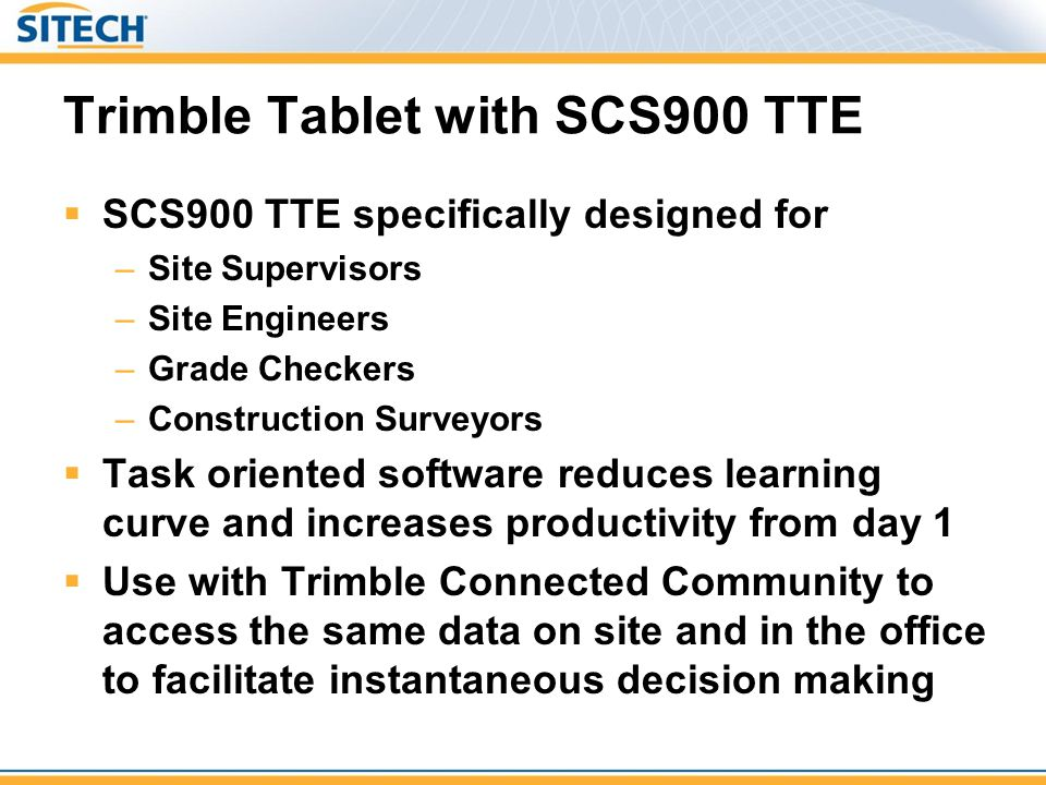 Trimble Tablet with SCS900 TTE