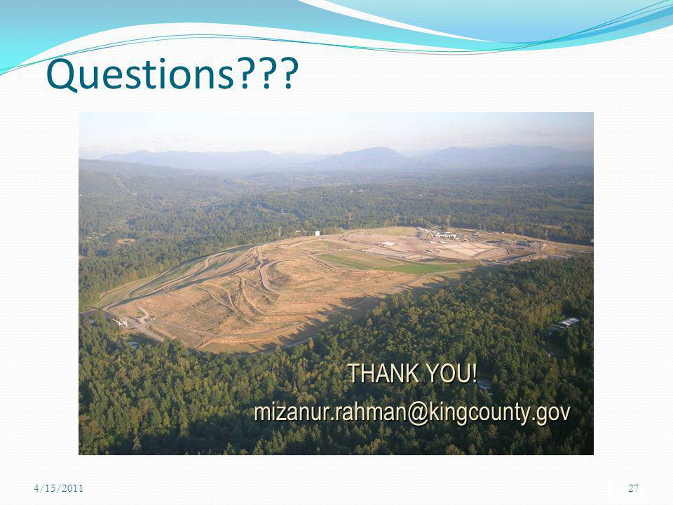 Questions Thank you! THANK YOU! mizanur.rahman@kingcounty.gov