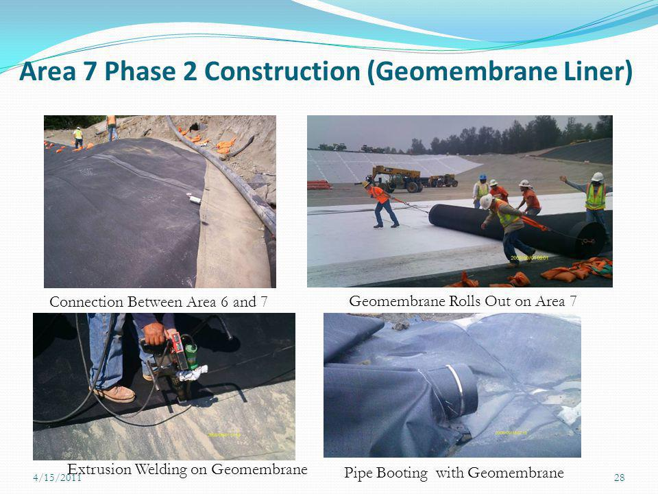Area 7 Phase 2 Construction (Geomembrane Liner)
