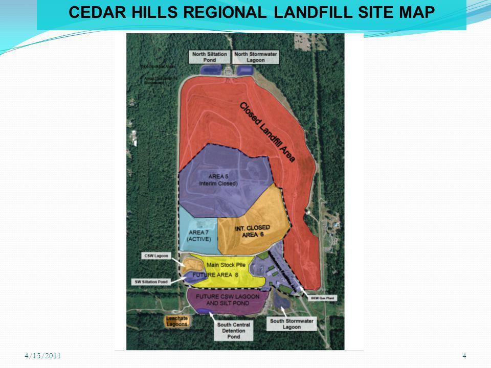 CEDAR HILLS REGIONAL LANDFILL SITE MAP