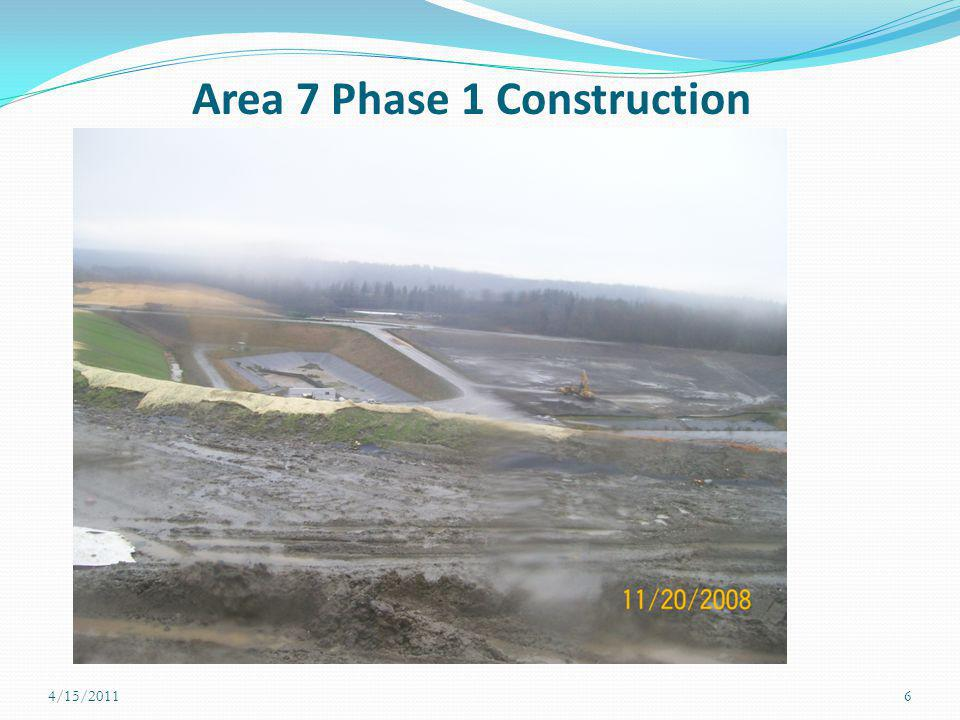 Area 7 Phase 1 Construction