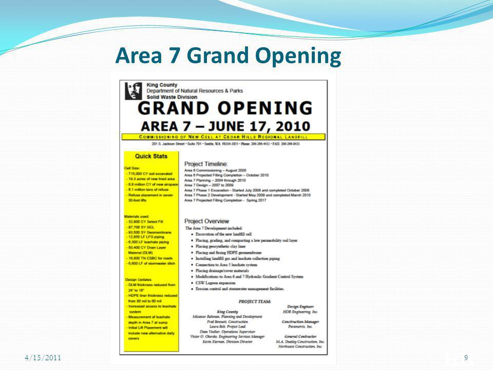 Area 7 Grand Opening 4/15/2011