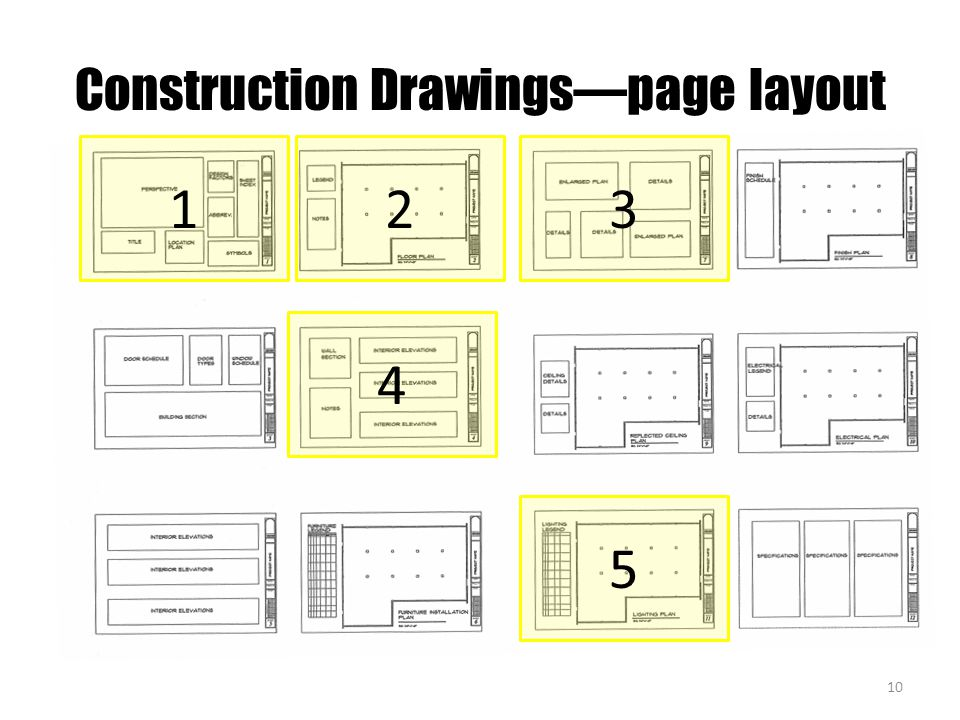 Construction Drawings—page layout