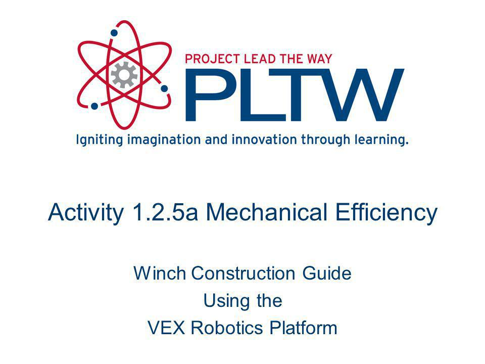 Activity 1.2.5a Mechanical Efficiency