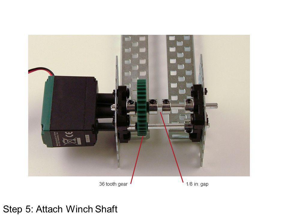 Step 5: Attach Winch Shaft