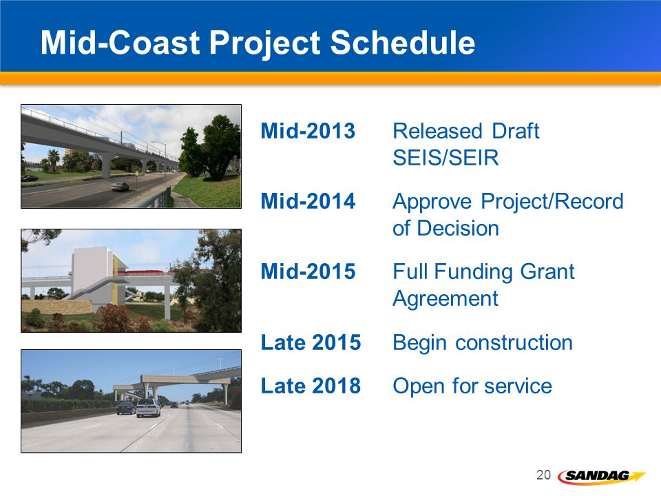 Mid-Coast Project Schedule