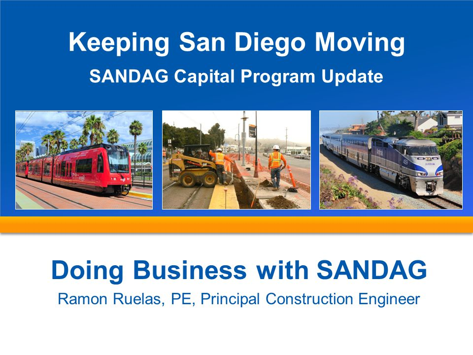 Keeping San Diego Moving Doing Business with SANDAG