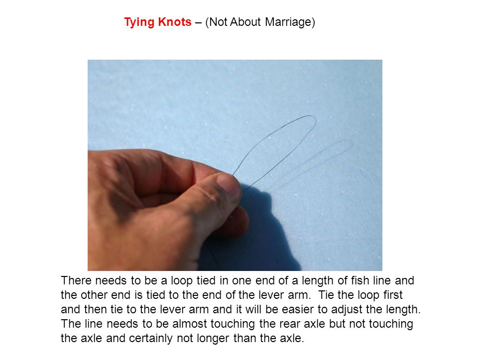 Tying Knots – (Not About Marriage)